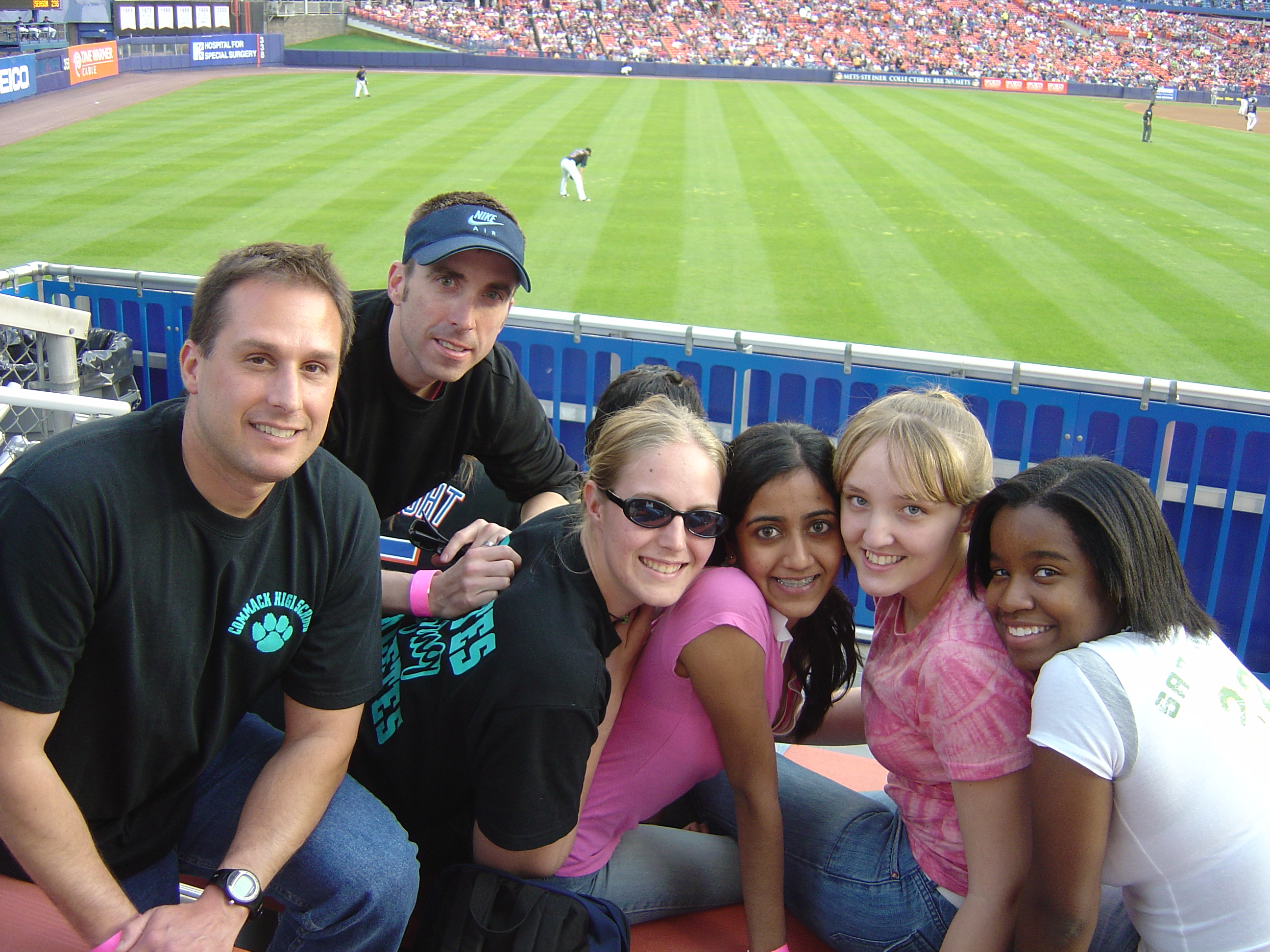 Student Athletes and Program Coordinators at The Mets Game