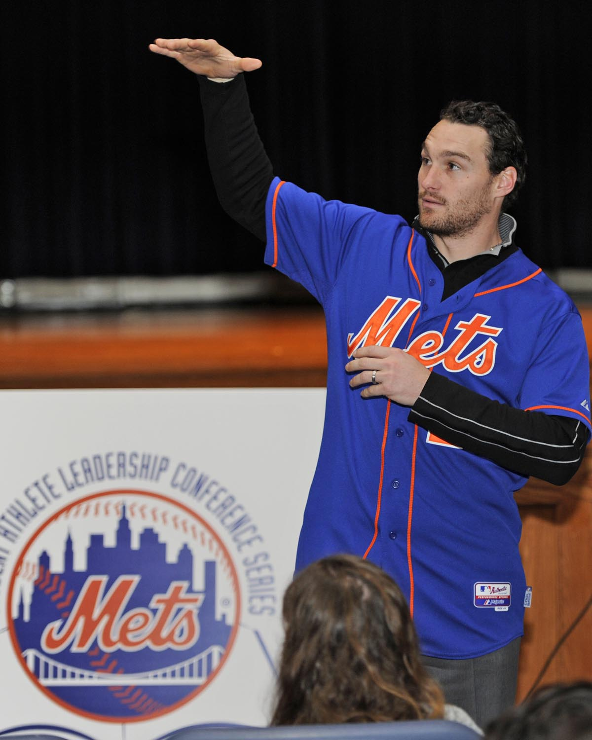 NY Met Daniel Murphy Visits Elementary School Kids With Student Leaders