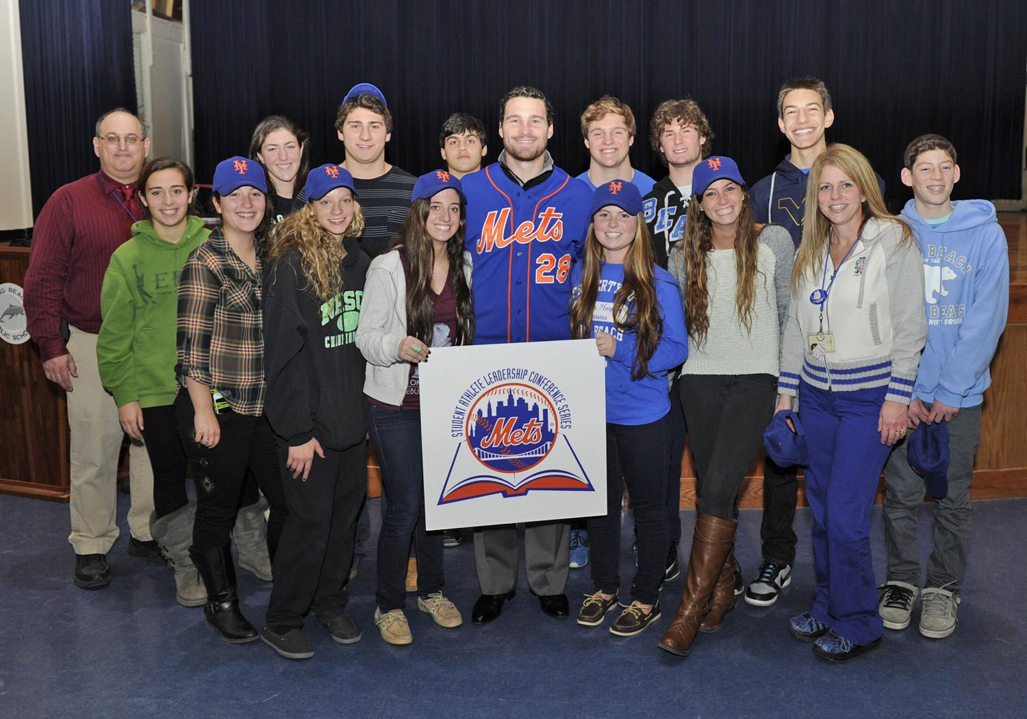 Long Beach Student Athletes, Kids and Daniel Murphy