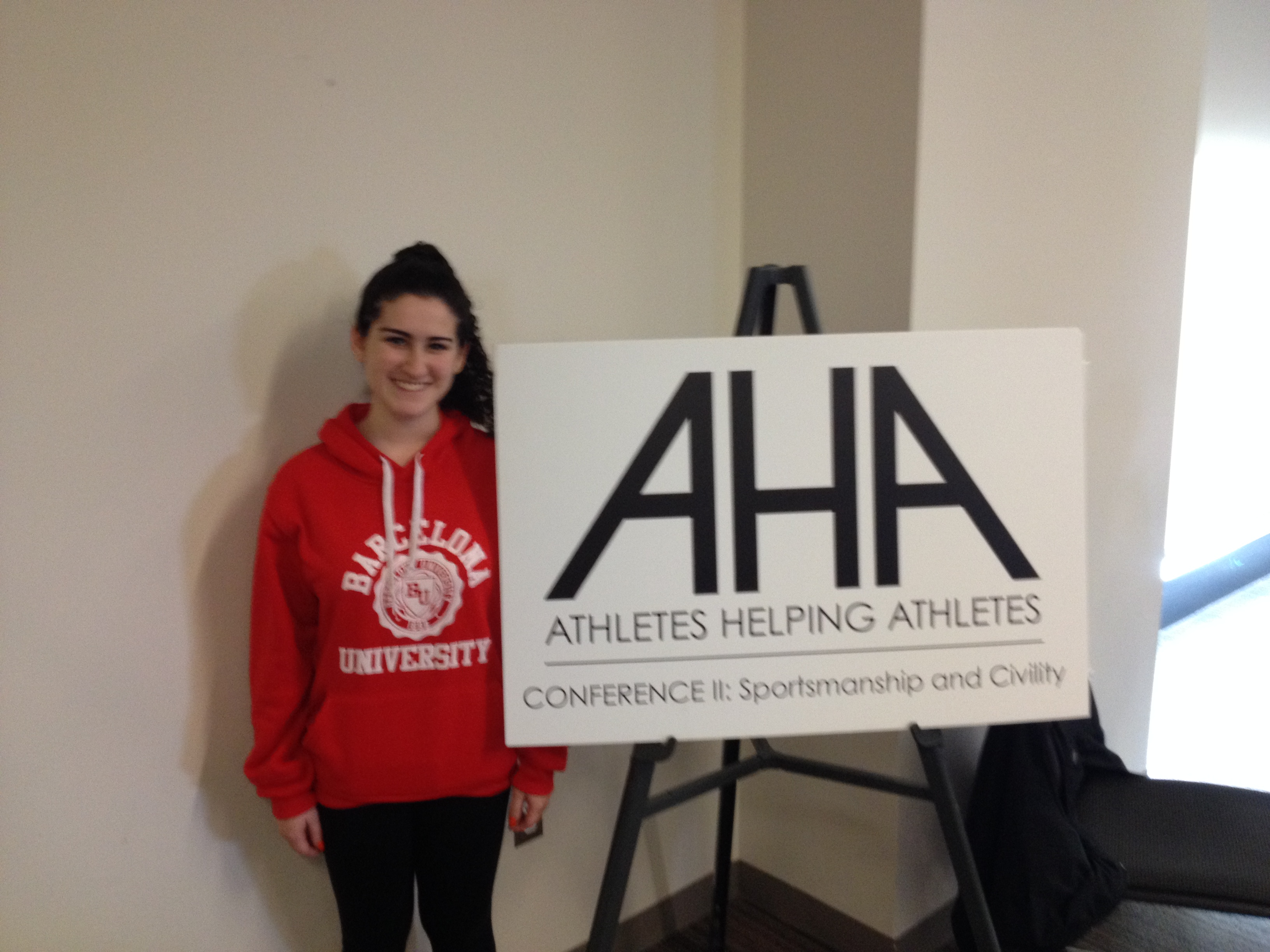 A Student Athlete Leader at the AHA Conference