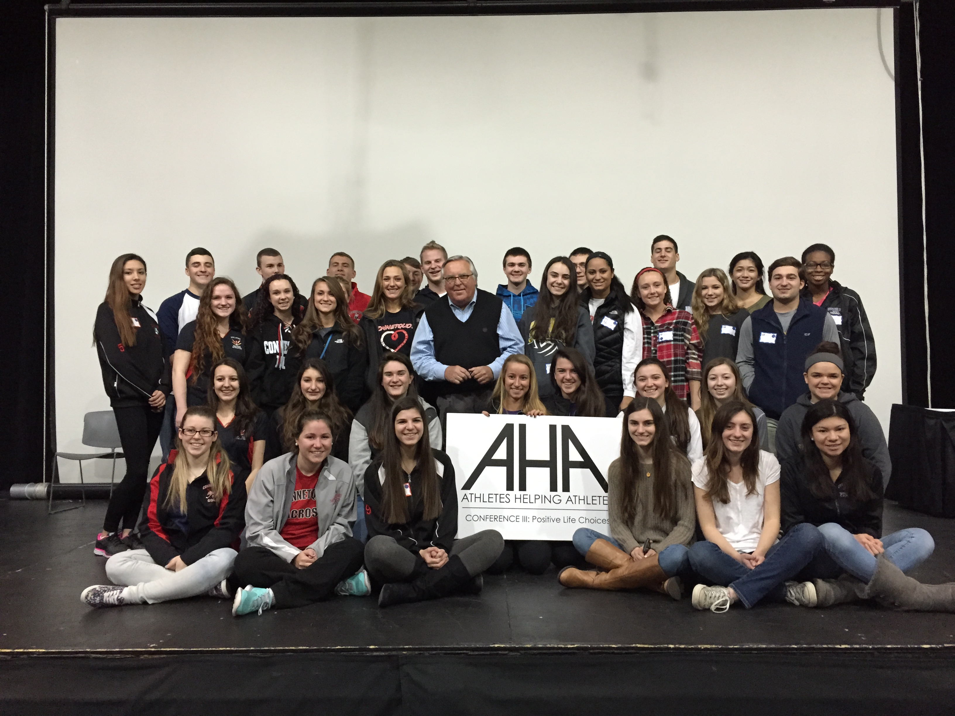 AHA Director, Warren Breining, with Student Athlete Leaders
